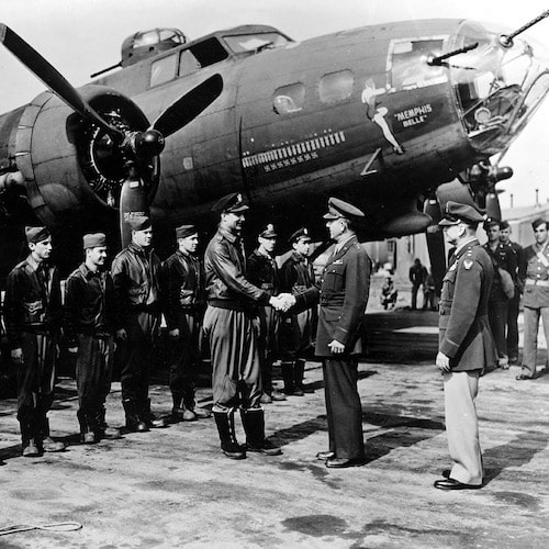 Memphis Belle Picture in AF Museum